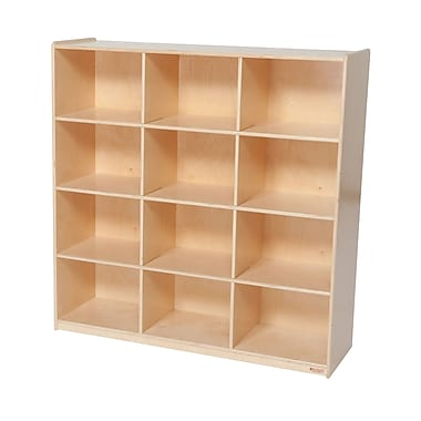 Wood Designs™ Storage Twelve Big Cubby Storage, Birch