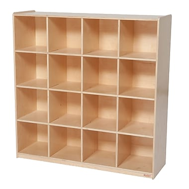 Wood Designs™ Storage Sixteen Big Cubby Storage, Birch
