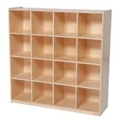 Wood Designs™ Storage Sixteen Big Cubby Storage, Birch