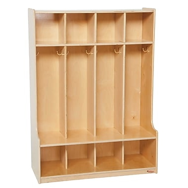 Wood Designs™ Four-Section Seat Lockers