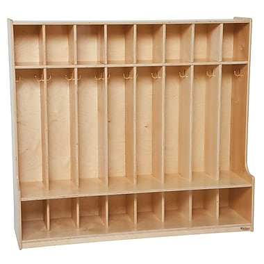 Wood Designs™ Eight Section Seat Lockers