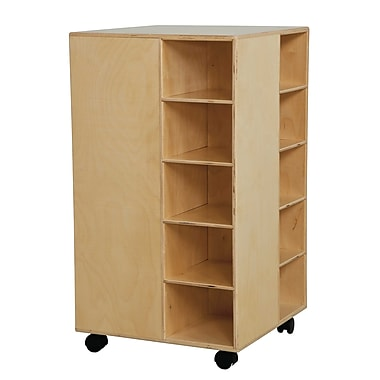 Wood Designs™ Cubby Spinner Without Trays, Birch