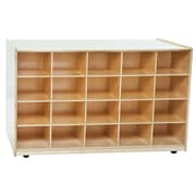 Wood Designs 20 Tray Mobile Shelves Island Without Trays, Birch