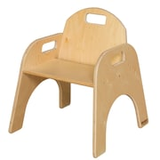 "Wood Designs 11""(H) Plywood Woodie Chair, Natural"