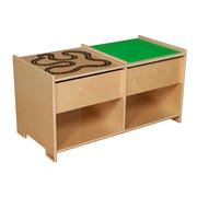 """Wood Designs™ 36"""" x 18"""" Plywood Build-N-Play Table With Racetrack, Natural"""