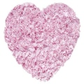 The Rug Market Shaggy Raggy Pink Rug; Heart 3'