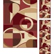 TayseRugs Elegance Red Multi Circles Rug; 3 Piece Set