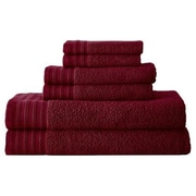 Colonial Textiles Spa Zero-Twist 6 Piece Towel Set; Biking Red