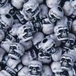 S&S® White Skull Beads Bag