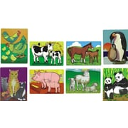 "Melissa & Doug® 12"" x 9"" Puzzle Set, Mothers and Baby Animals"
