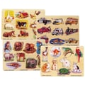 Melissa & Doug® 12in. x 9in. Easy Grip Pegged Puzzle Set