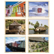 "Melissa & Doug® 11"" x 8 1/2"" Puzzle Set, Houses Around the Globe"