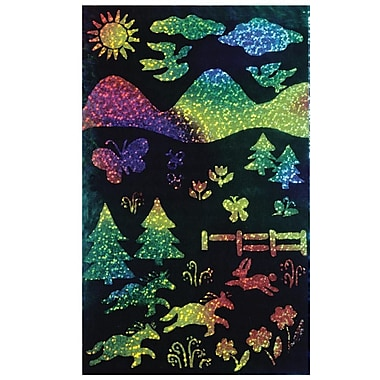 Melissa & Doug® 8 1/2in. x 11in. Rainbow Sparkle Soft-Scratch Glitter Board, 30/Pack