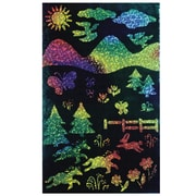 "Melissa & Doug® 8 1/2"" x 11"" Rainbow Sparkle Soft-Scratch Glitter Board, 30/Pack"