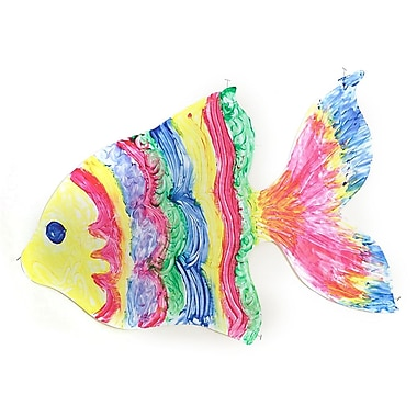 Roylco® 23-1/2in. x 36in. Fish Shape Giant Finger Paint Paper, 24/Pack