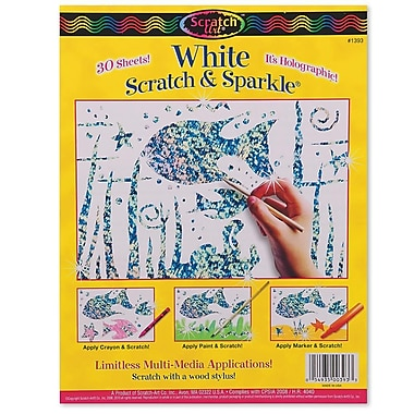 Melissa & Doug® 8 1/2in. x 11in. Scratch & Sparkle White Glitter Board, 30/Pack