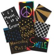 "Melissa & Doug® 2 1/2"" x 3 1/2"" Scratch-Art® Trading Cards, 208/Pack"