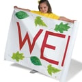 S&S® Color-Me™ Taracloth® 34in. x 6 yds. Banner, Bright-White