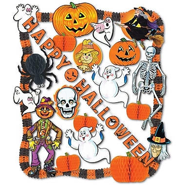 S&S PY985 Scalloped Halloween Decorating Kit, Multicolor