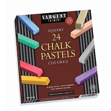 Sargent Art® Premium Quality Pastels Assorted, 24/Pack