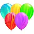 Pioneer® Balloon 11in. Rainbow Agate Balloon, Assorted, 100/Pack