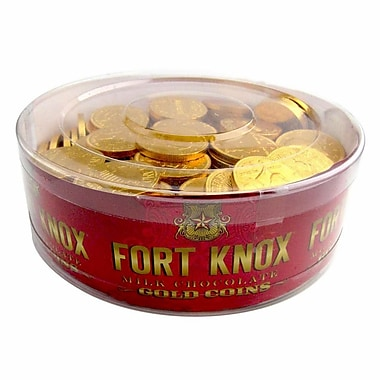 Gerrit® 32 oz. Fort Knox Gold Coins Chocolate, 180/Tub