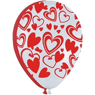 Betallic Flirty Hearts Latex Balloon, 50/Pack