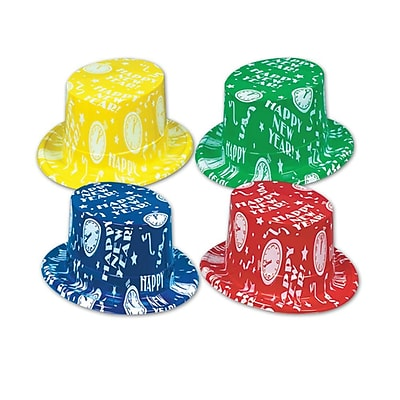 S&S Happy New Year Top Hats, 25/Pack 847680