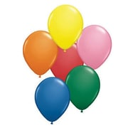 "Qualatex® 11"" Standard Balloon, Assorted, 100/Pack"