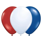 "Pioneer® Balloon Qualatex® 11"" Patriotic Balloon, Assorted, 100/Pack"