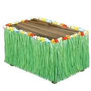 "S&S® 9' x 32"" Flowered Raffia Table Skirt"