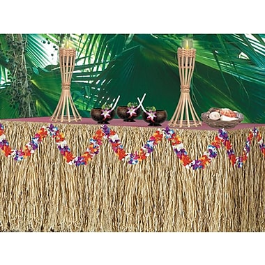 S&S® 9' Genuine Raffia Luau Table Skirt