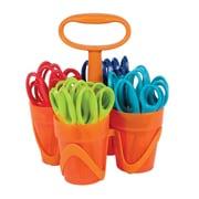 "Fiskars SZ642 Sharp Tip 5"" Kid's Scissors with Caddy, Multi Color"