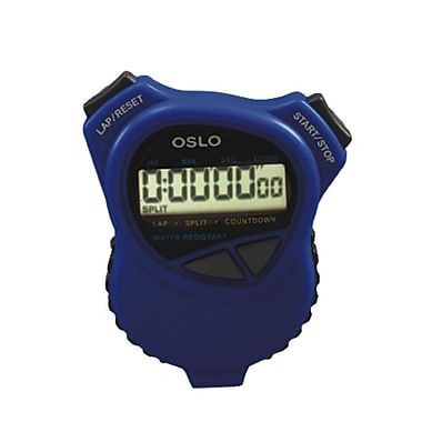 S&S® Robic Oslo 1000 W Stopwatch Countdown Timer, Blue