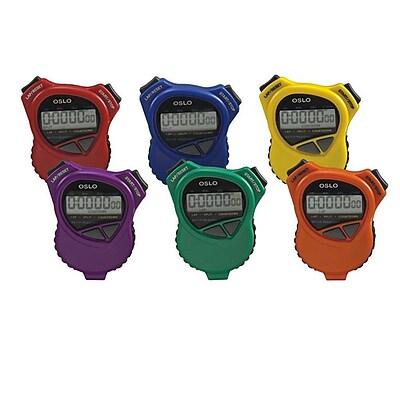 S&S Robic Oslo 1000 W Stopwatch Countdown Timer, 6/Set 831419