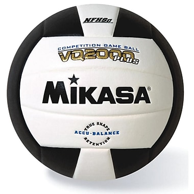 Mikasa® Premier Series Indoor Competition Volleyball, White/Black