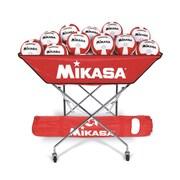 Mikasa Hammock Style Volleyball Cart, Scarlet