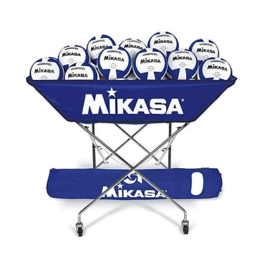 Mikasa® Hammock-Style Volleyball Cart, Royal Blue