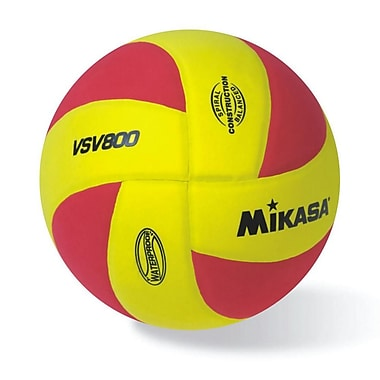 Mikasa® Squish Series Volleyball, Red/Gold