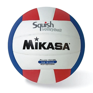 Mikasa® Squish Series Volleyball, Red/White/Blue