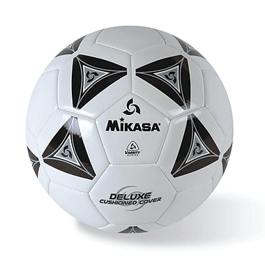 Mikasa® Varsity Series Soft Soccer Ball, Size 4, Black/Grey/White