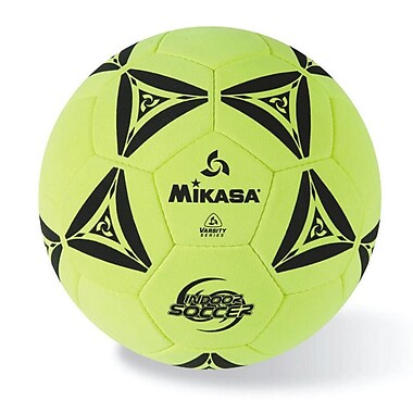 Mikasa® Indoor Series Soccer Ball, Size 5, Yellow/Black