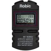 Robic® Twelve Memory Chrono Stopwatch, Black
