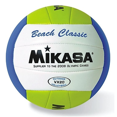 Mikasa® Beach Classic Volleyball, Yellow/White/Blue