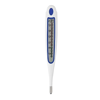 Briggs Healthcare 30 Second Vintage Style Digital Thermometer Blue / White