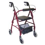 Briggs Healthcare Ultra Lightweight Aluminum Rollator  Burgundy