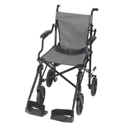 Briggs Healthcare Folding Transport Chair with Carrying Tote Black