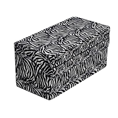 Briggs Healthcare HealthSmart Foldable Pattern Bed Wedge Zebra