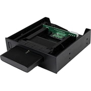 Startech.com® S2510U33RUSM 5.25 USM Storage Bay With 2.5 SATA USM/USB 3.0 HDD Enclosure, Black