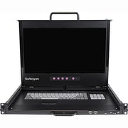 "StarTech 1U 17"" Dual Rail Rackmount LCD Console With Fingerprint Reader and USB Hub"